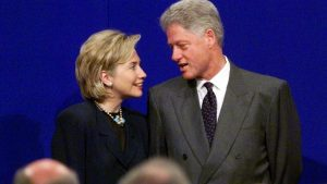 PRESIDENT CLINTON AND FIRST LADY IN IRELAND.